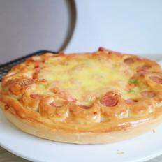 培根火腿鲜虾披萨