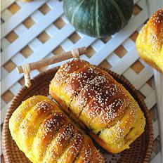 南瓜红豆芝麻斑纹土司
