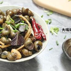 紫苏炒石螺丨大嘴螺