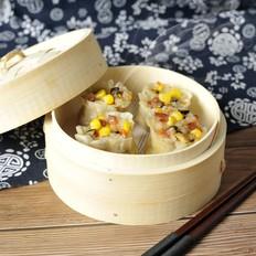 饺子皮咸蛋黄烧麦
