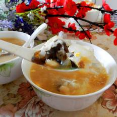 白菜木耳疙瘩汤