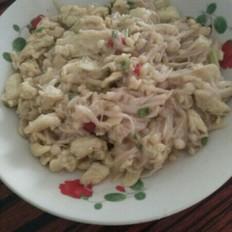 金针菇炒鸡蛋