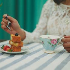 浪漫甜蜜法式草莓吐司