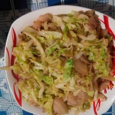 圆白菜炒肉片