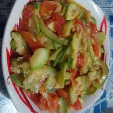 西红柿炒西葫芦