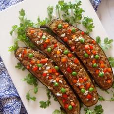 香菇肉末烤茄子