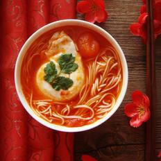 西红杮鸡蛋龙须面汤