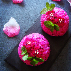 火龙果花样饭团