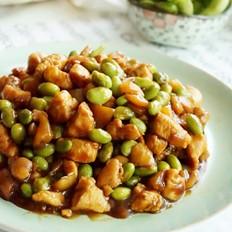 萝卜干毛豆炒鸡丁