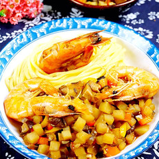 鲜虾臊子拌面