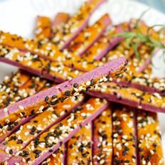 紫薯芝麻条