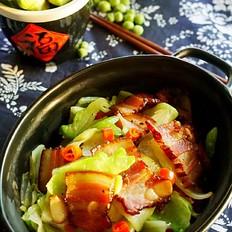 腊肉儿菜干锅