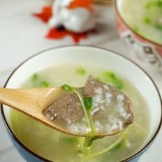 豌豆苗猪肝粥