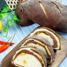 巧克力肉松面包