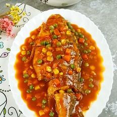 茄汁烧黄鱼