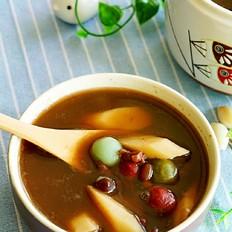 彩色糯米团子豆沙粥