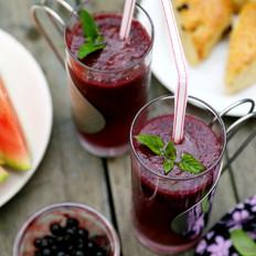 西瓜蓝莓沙冰