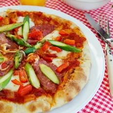 先煎后烤的披萨