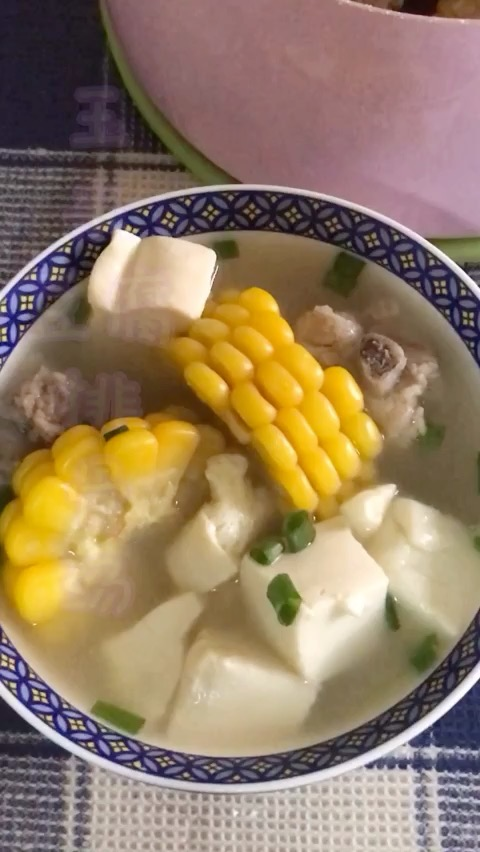 玉米豆腐排骨汤