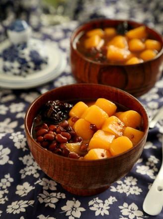 红薯圆红豆汤的做法