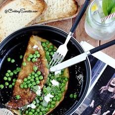 豌豆奶酪西式蛋饼