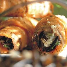 三文鱼菰米饭卷