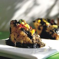 橄榄菜扒榨菜肉末酿豆腐泡