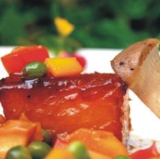 红烧冬瓜配干煎杏鲍菇