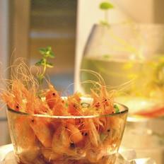 芥末汁白米虾