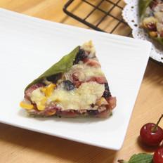 饺子皮水果披萨