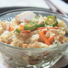 培根芋艿饭的做法