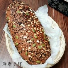 巧克力高纤面包