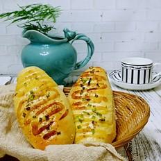 火腿肠早餐面包(一次发酵法)