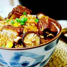 铁釜烧饭就是香排骨玉米蒸饭