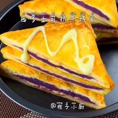 西多士燕麦紫薯糊