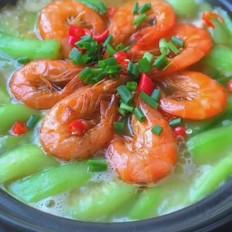 鲜虾丝瓜煲