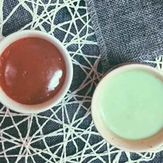 不输布歌东京的抹茶布丁和巧克力布丁