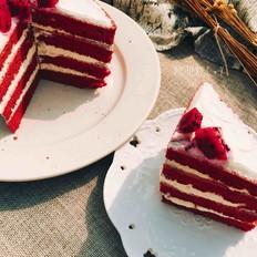 怎么拍都美的红丝绒蛋糕