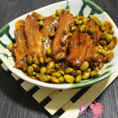 鸭翅毛豆米