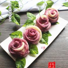美美噠紫薯玫瑰花饅頭