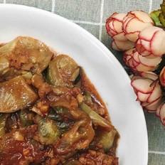 红腐乳焖白茄子