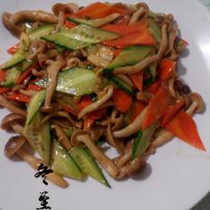 炒蟹味菇的做法
