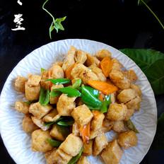 尖椒豆腐泡