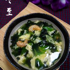 螺旋藻海米蛋花汤