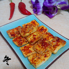 韩式辣酱烤豆腐