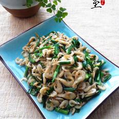 韭菜炒湖虾