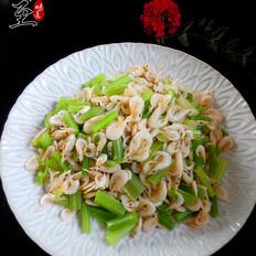 芹菜拌湖虾