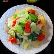 油菜炒土豆片