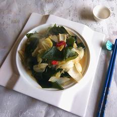 白菜炒海带
