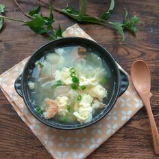 老黄瓜虾皮鸡蛋汤
